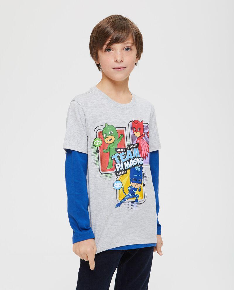 T-shirt finto doppio Pj Masks