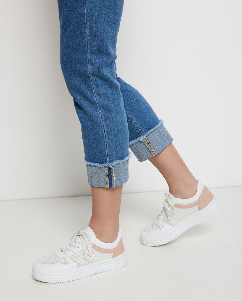 Jeans pinocchietto in cotone stretch donna