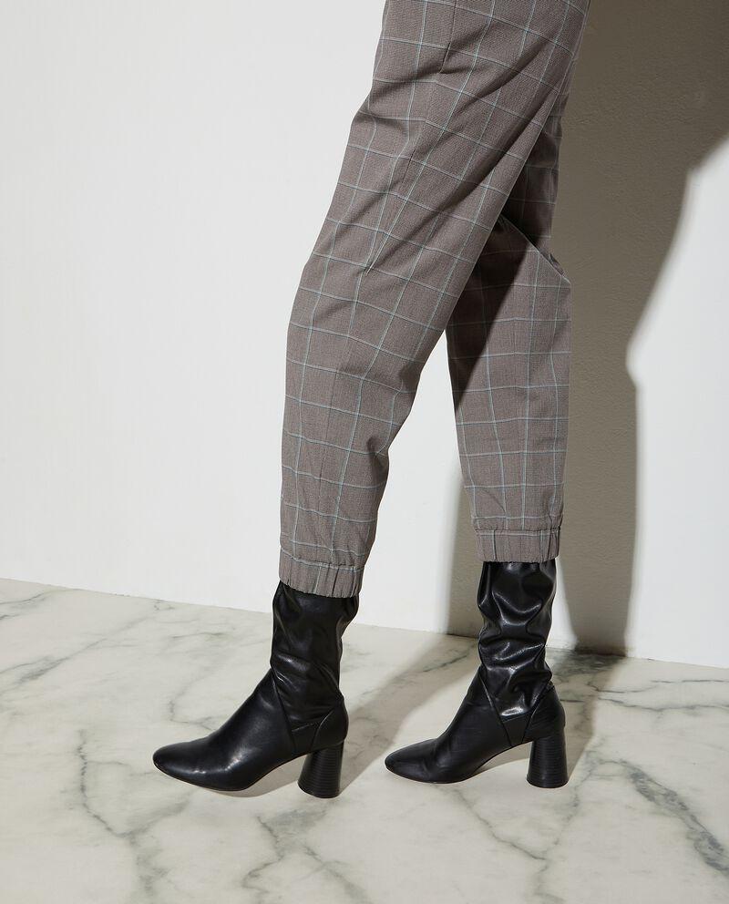 Pantaloni morbidi a quadri donna