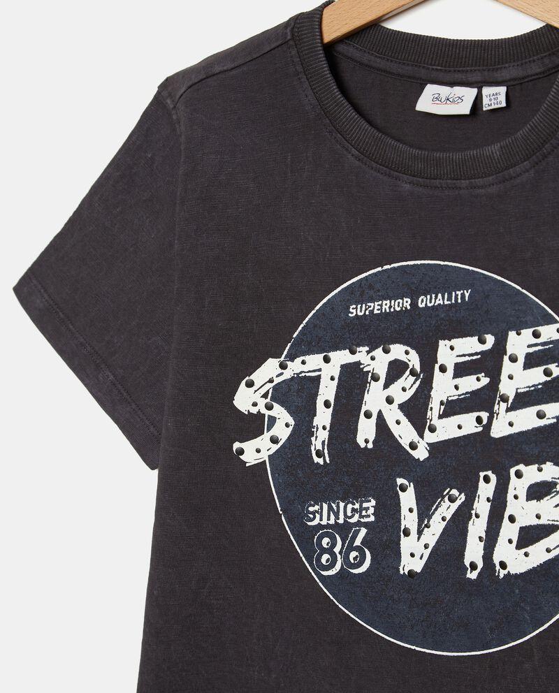 T-shirt puro cotone a maniche corte mélange ragazzo single tile 1
