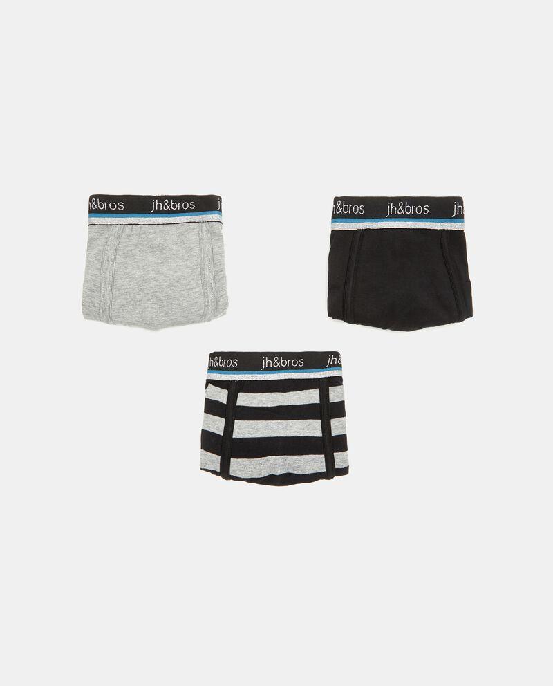Set con 3 boxer cotone elasticizzato uomo