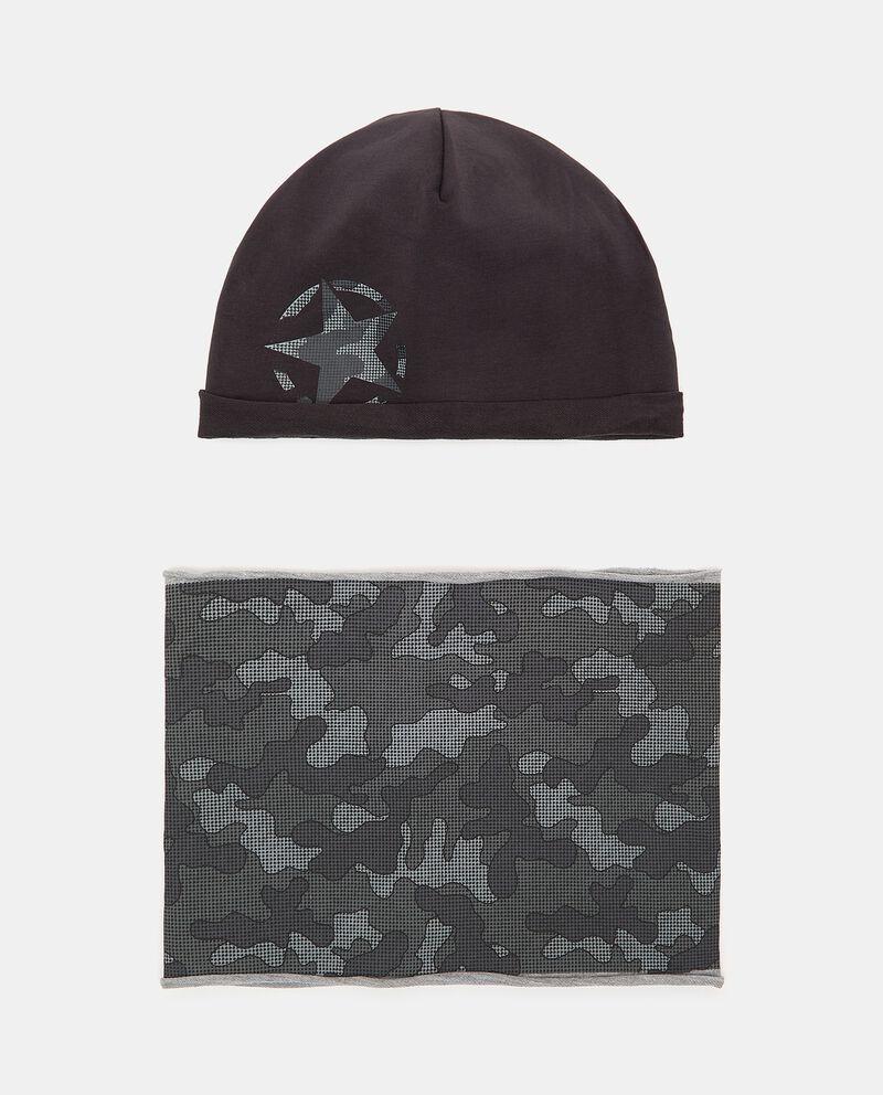 Set berretto e scaldacollo in felpa elasticizzata cover