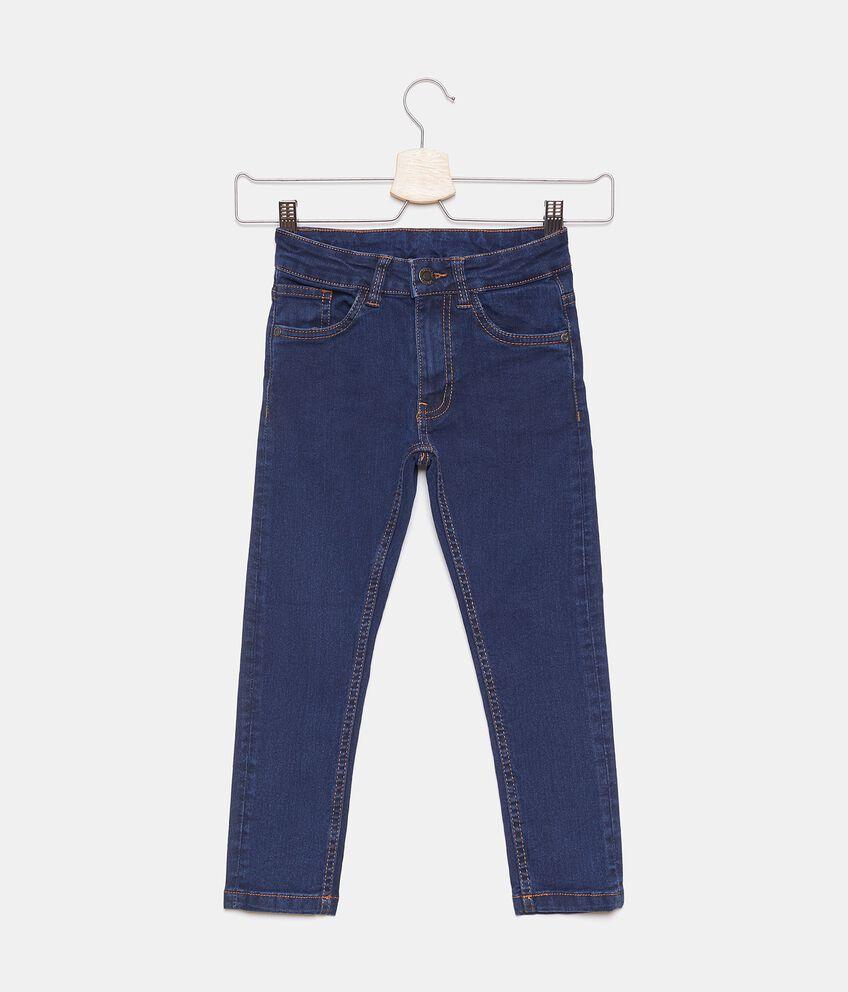 Jeans con cinque tasche in tinta unita bambino