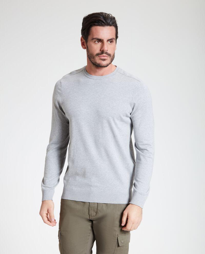 Maglione uomo con righe in rilievo
