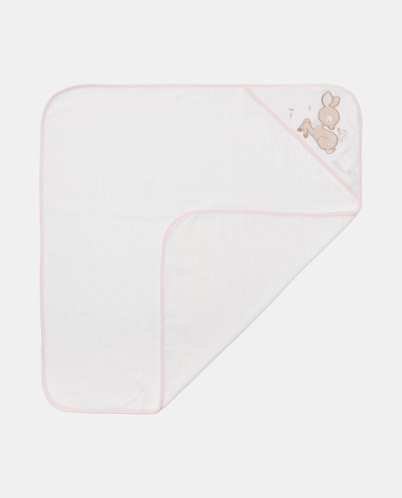 Asciugamano con cappuccio in puro cotone