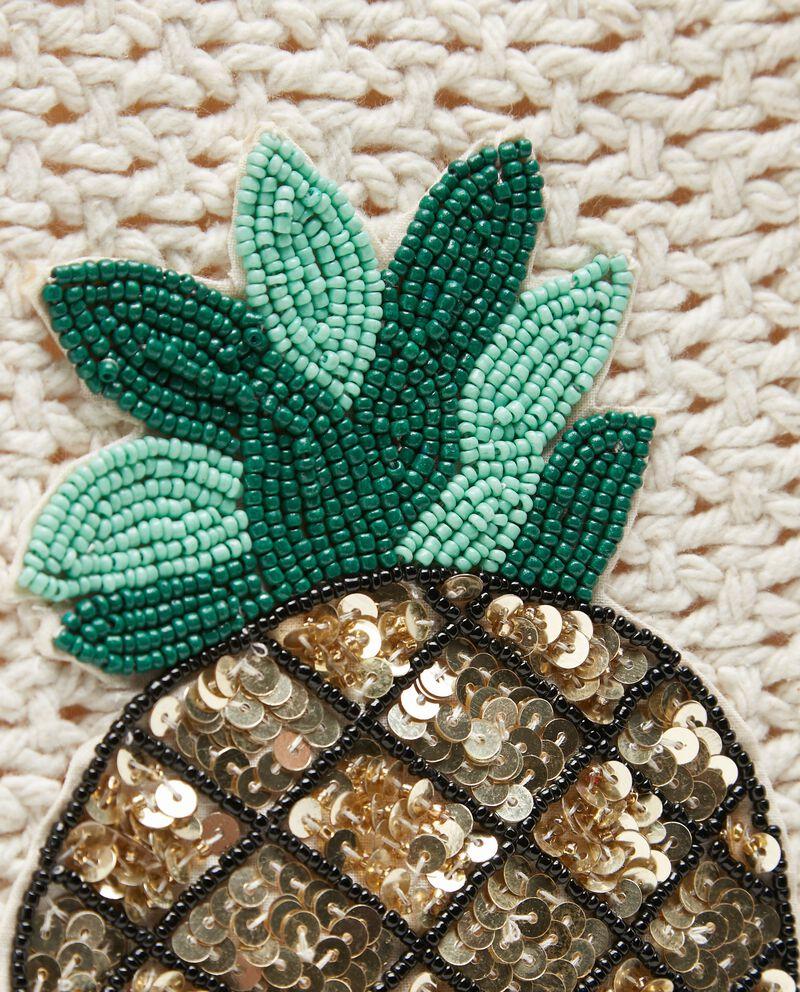 Borsa mare con intreccio crochet donna