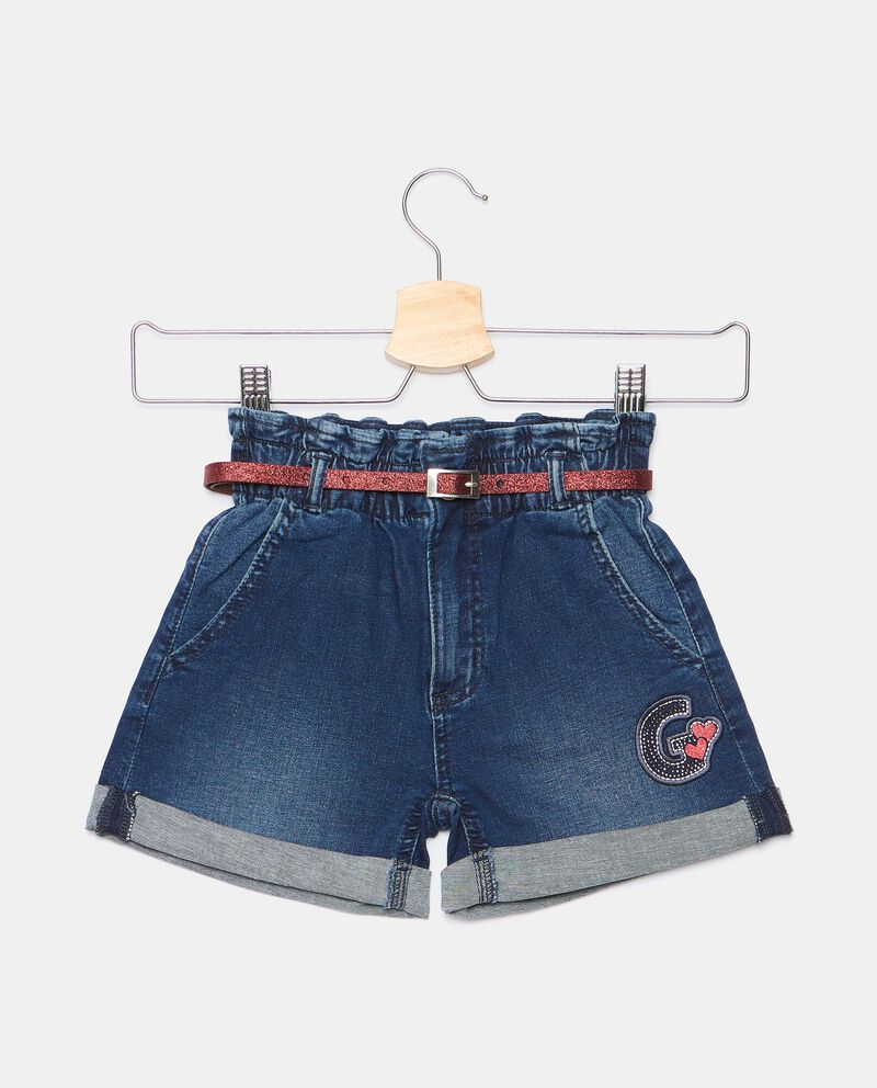 Shorts in denim con vita arricciata bambina cover