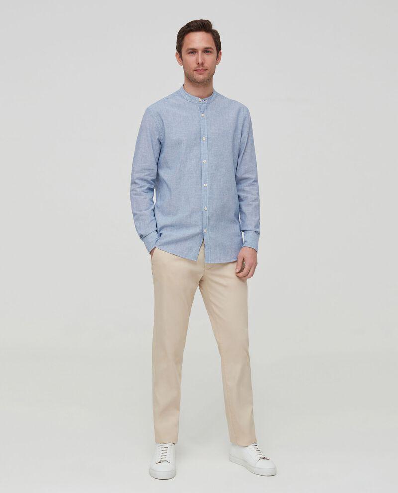 Camicia in lino e cotone a righe