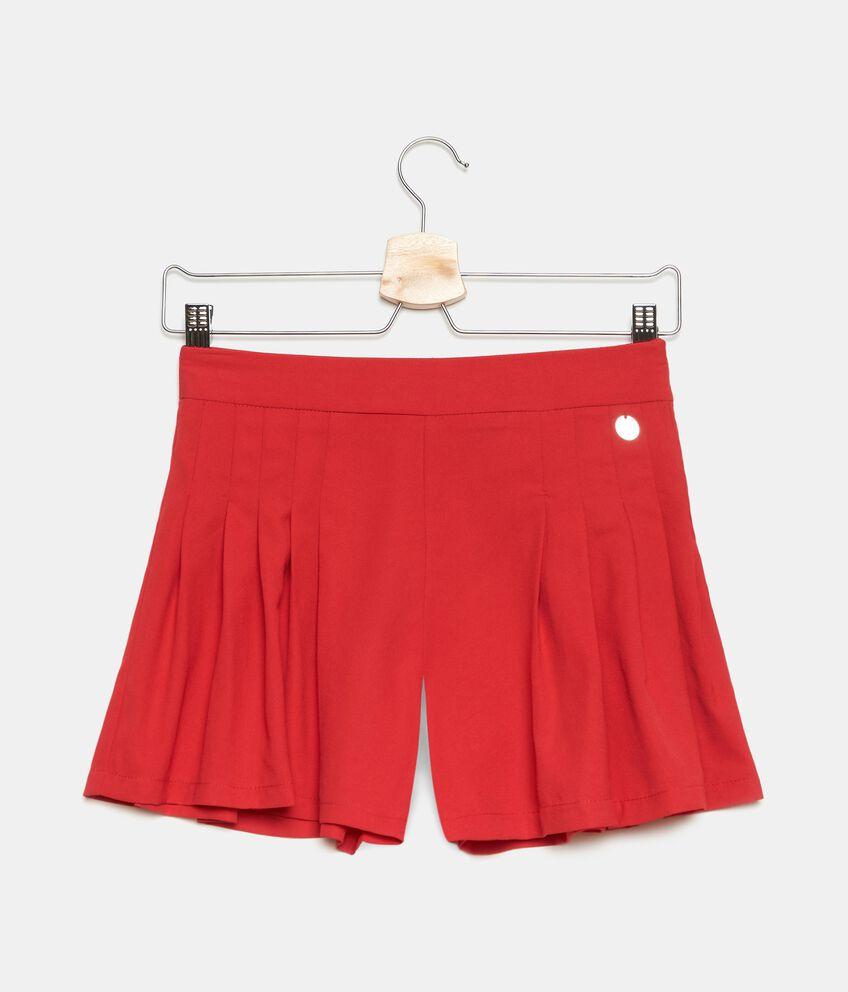 Shorts in tinta unita ragazza double 1