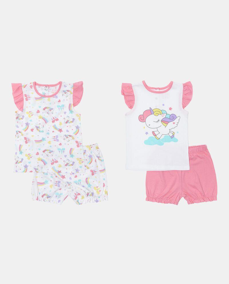 Bipack 2 pigiami in cotone jersey neonata
