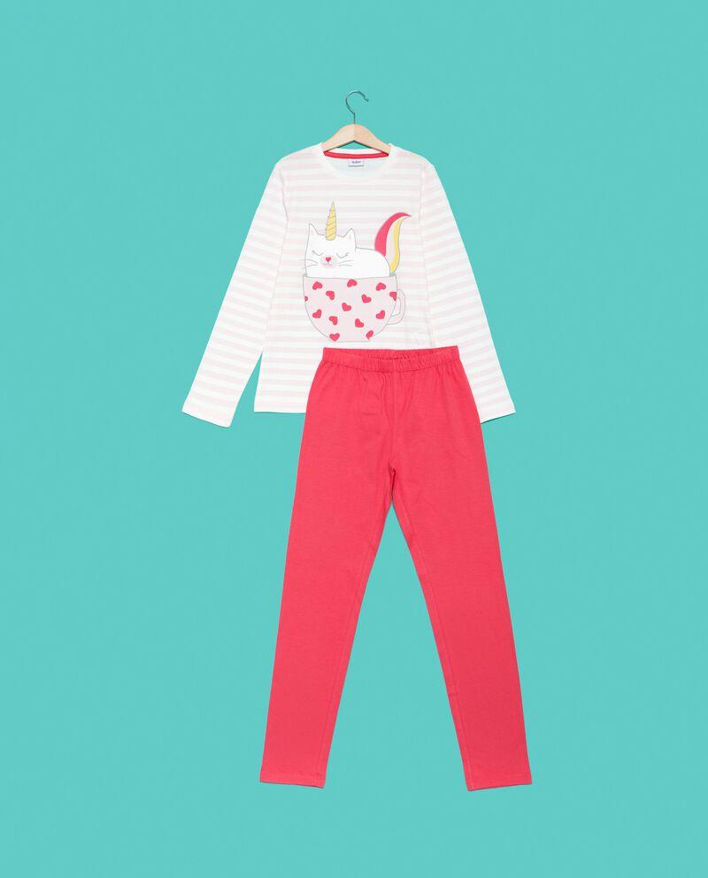 Set pigiama t-shirt righe e pantaloni ragazza
