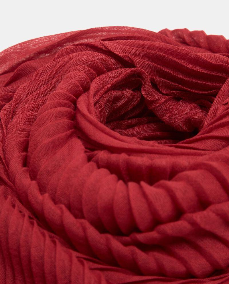 Sciarpa rossa plissettata donna