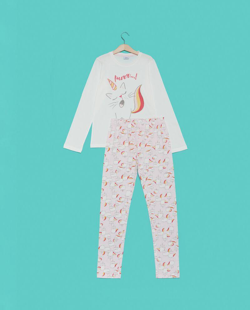 Set pigiama t-shirt e pantaloni in fantasia ragazza