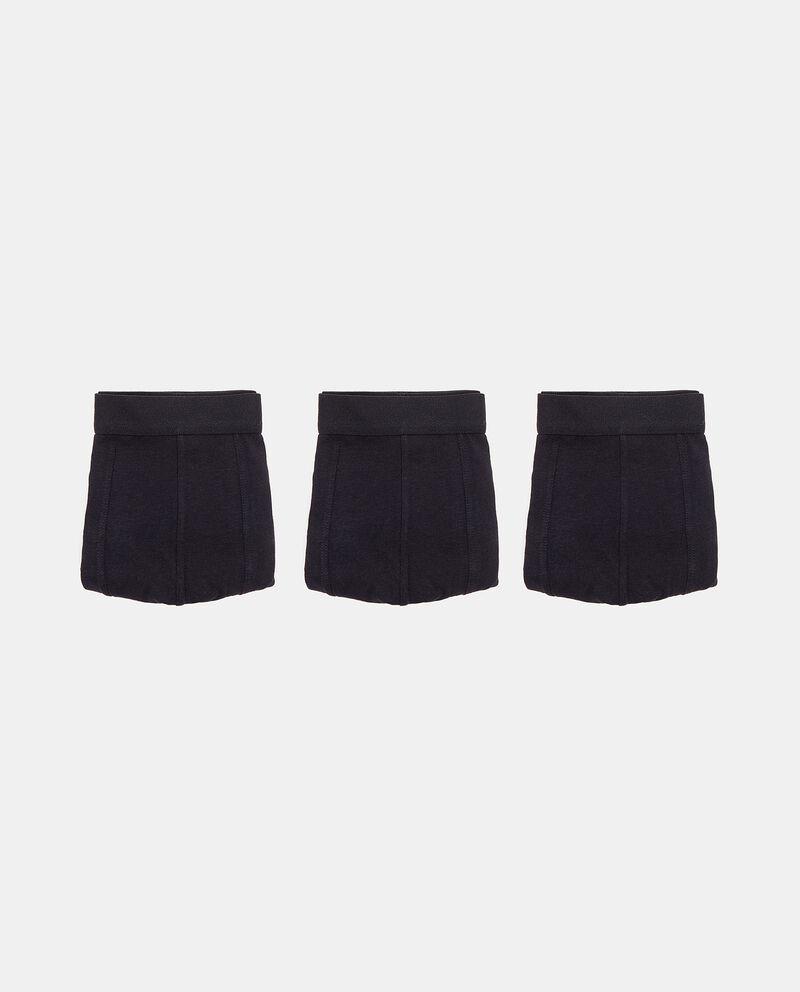 Set con 3 boxer di cotone elasticizzato uomo