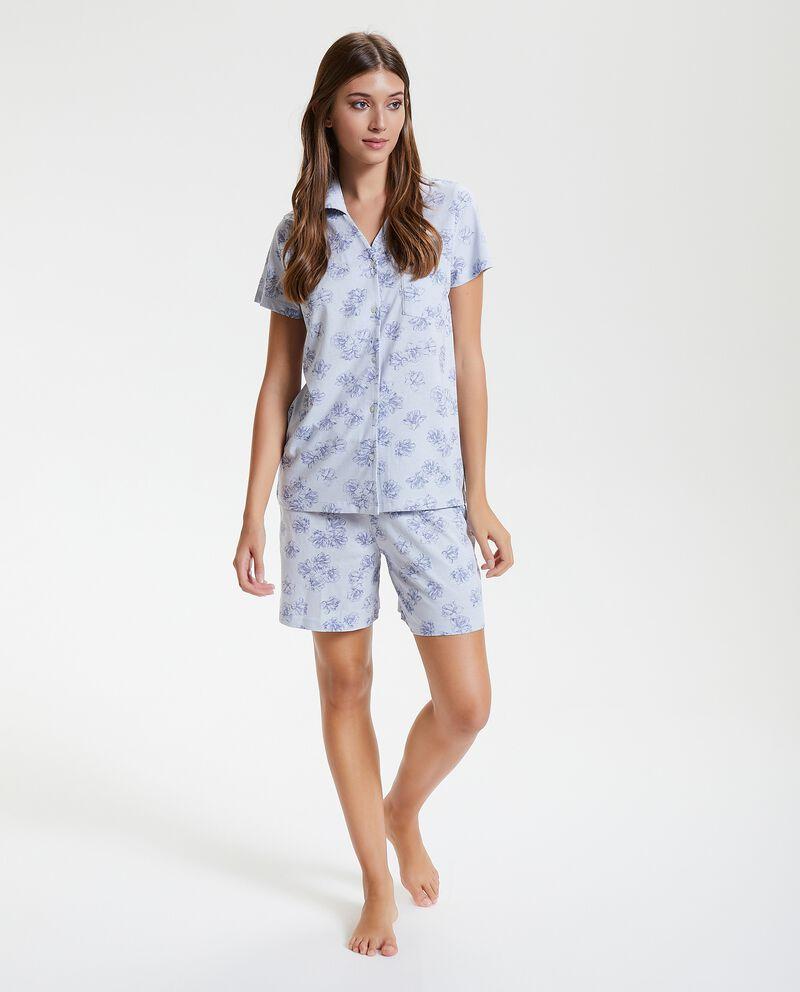 Set pigiama leggero in fantasia floreale puro cotone