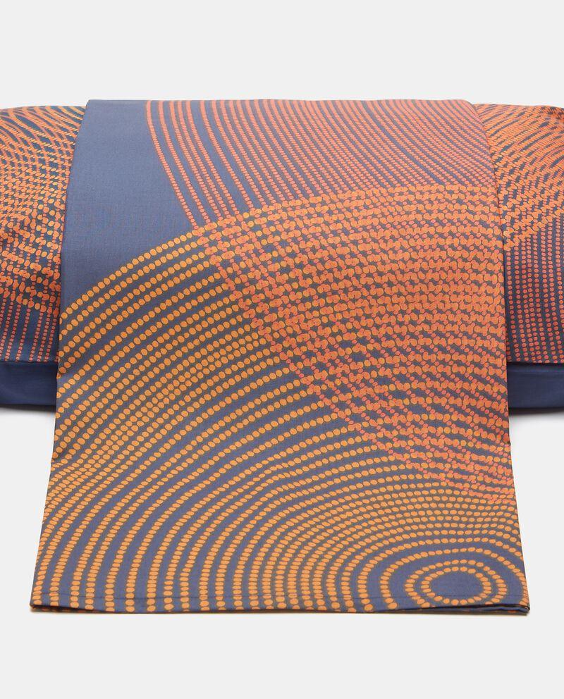 Lenzuolo con fantasia geometrica in puro cotone