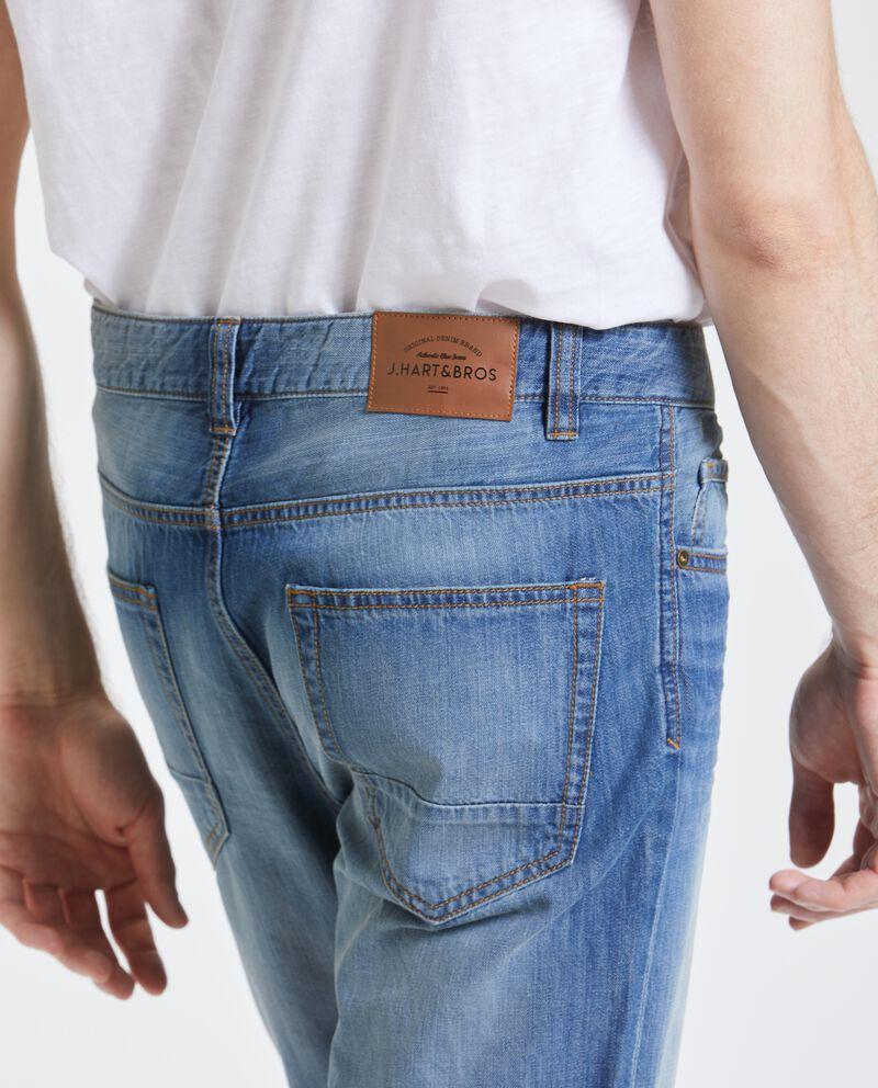 Bermuda in jeans puro cotone uomo