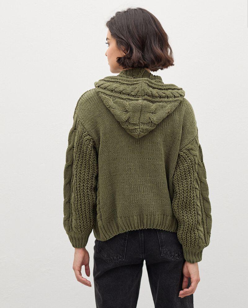 Cardigan tricot con zip donna single tile 1