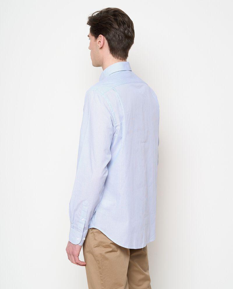 Camicia rigata in cotone uomo single tile 1
