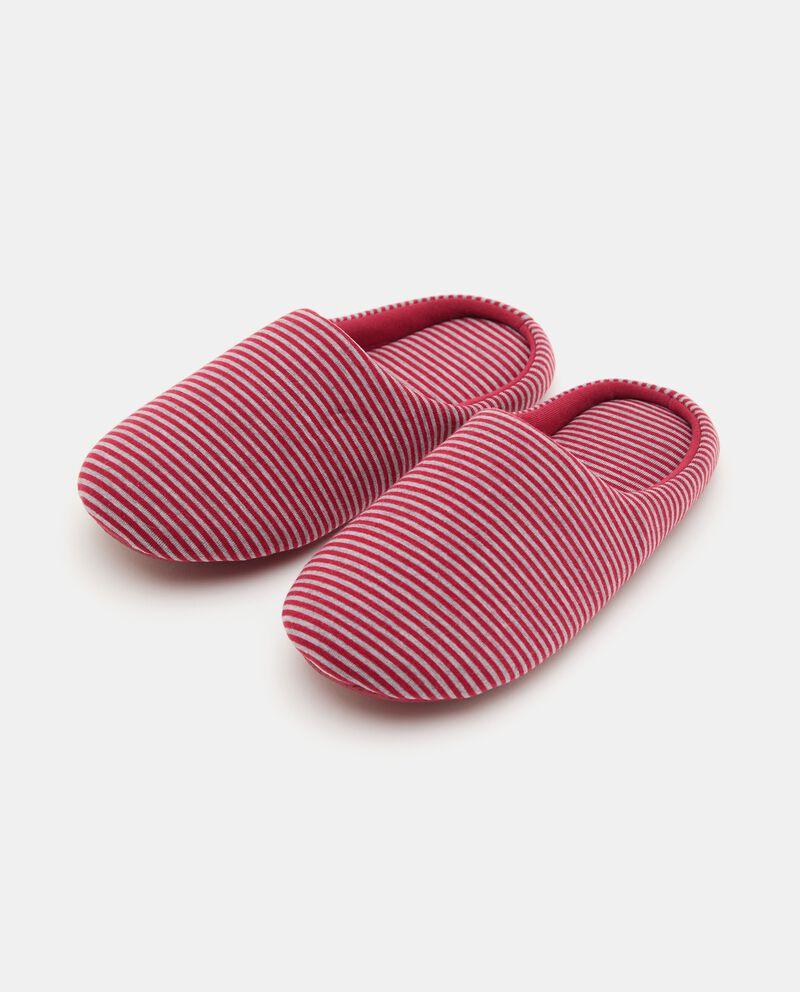 Pantofole con motivo a righe donna cover