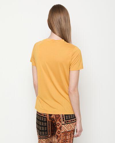 T-shirt con nodo in modal donna