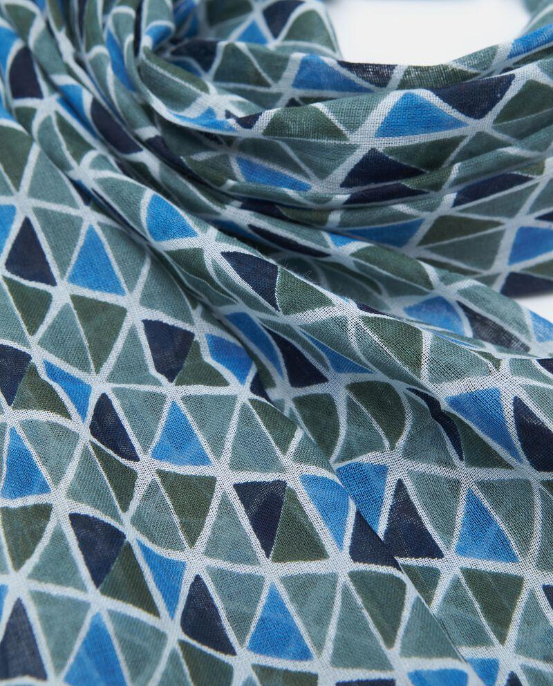 Sciarpa in puro cotone fantasia geometrica uomo single tile 1