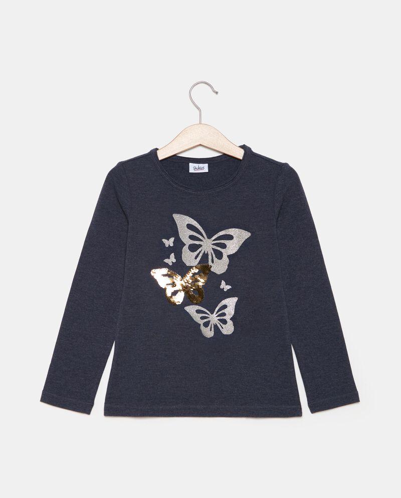 T-shirt a maniche lunghe con farfalle bambina