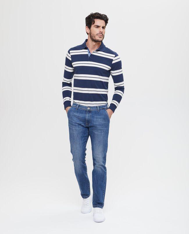 Jeans slim fit stretch effetto delavato