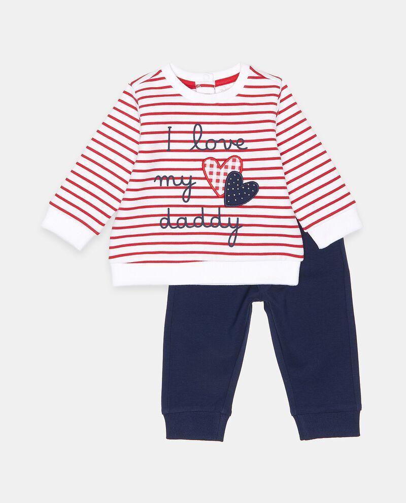 Set jogging con felpa e pantaloni in cotone neonata cover