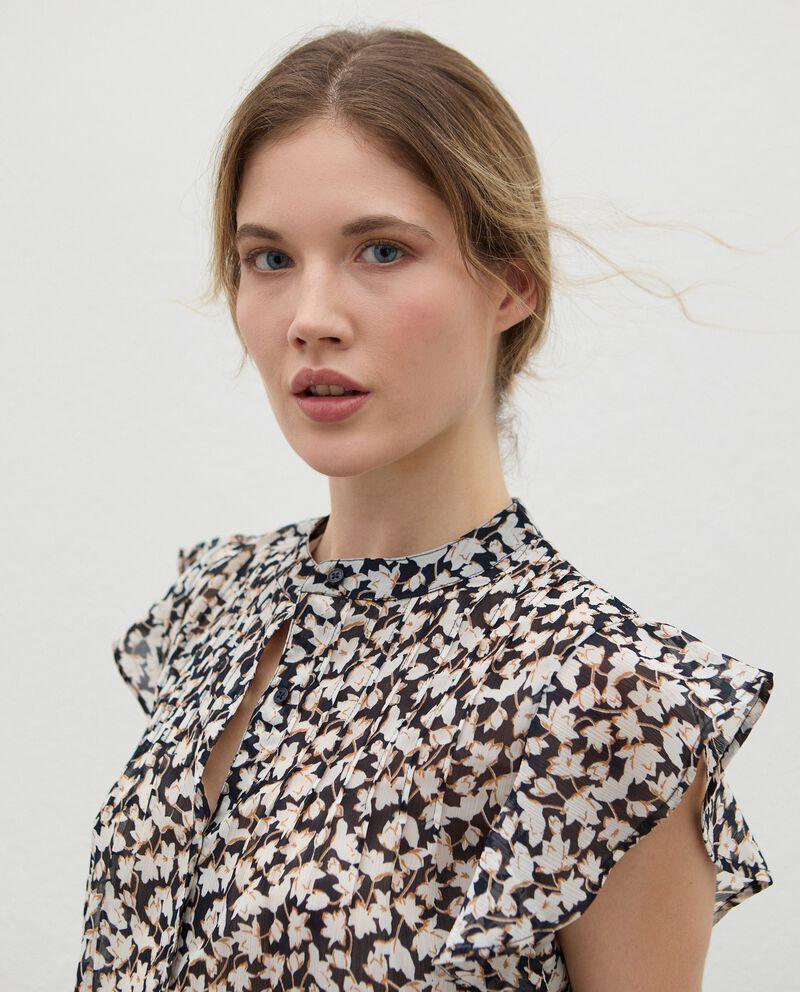 Camicia plissé con maniche volant donna single tile 2