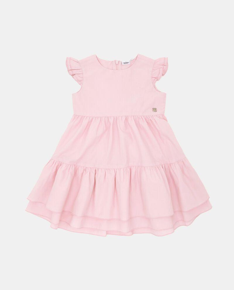 Vestito a balze in popeline neonata