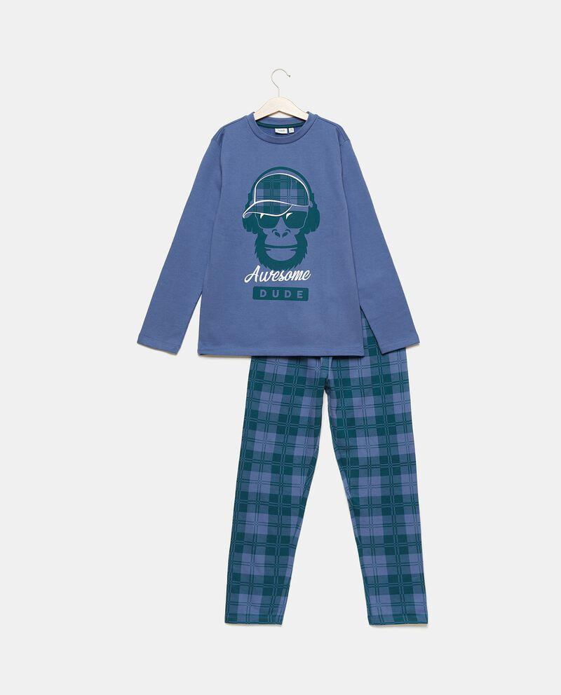 Set pigiama in puro cotone con maglia e pantaloni