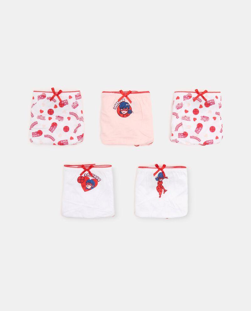 Pack con 5 slip con fiocchetto bambina cover