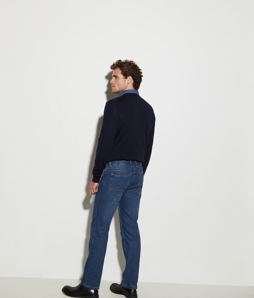 Jeans regular fit in cotone uomo