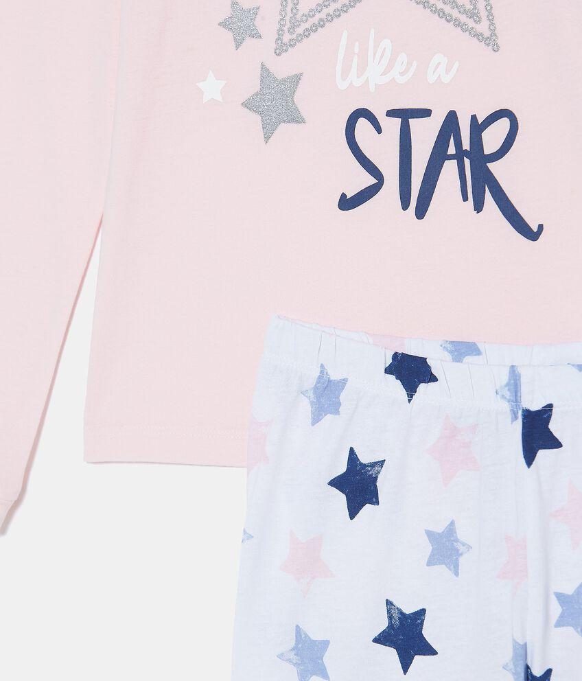 Set pigiama in puro cotone biologico con maglia e pantaloni bambina
