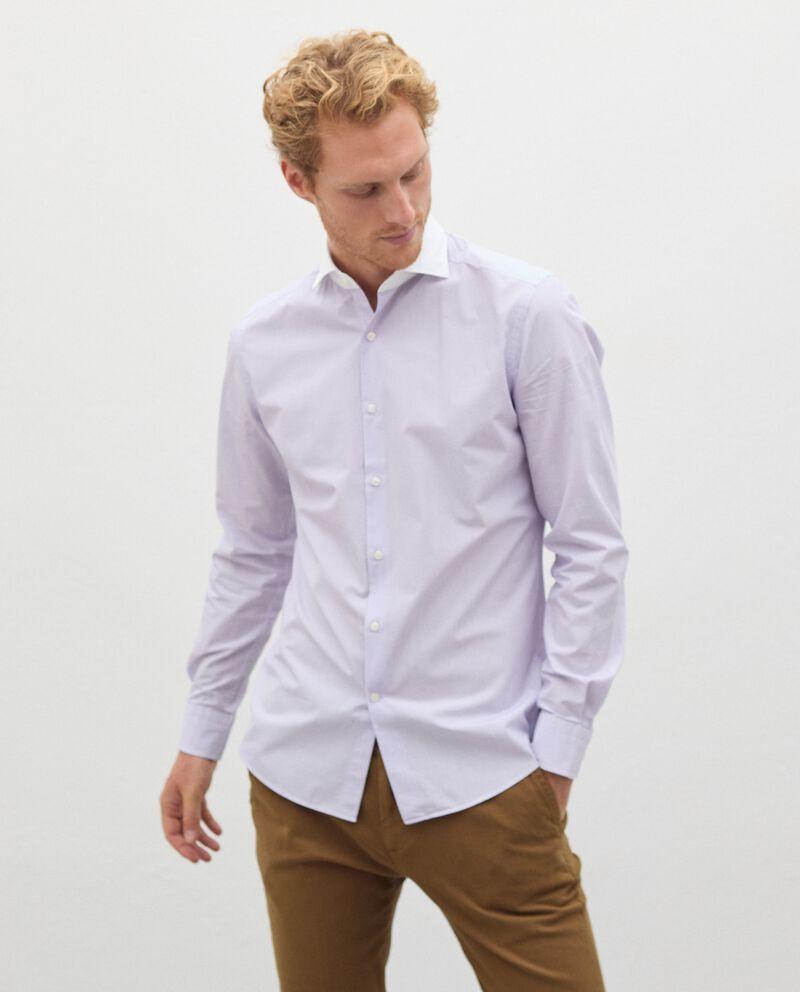 Camicia a righe in puro cotone uomo cover