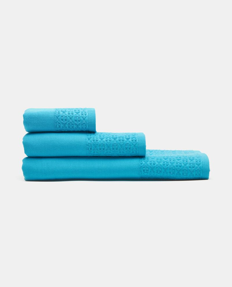 Asciugamano ospite in puro cotone con bordatura cover