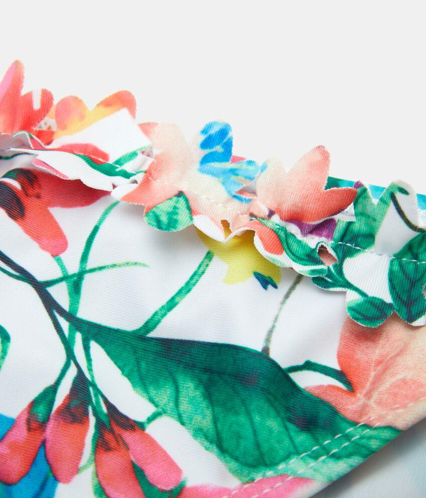Costume bikini con fantasia tropicale