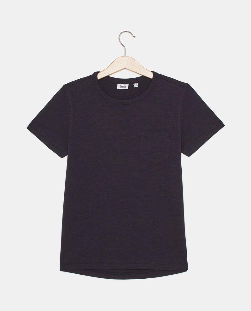 T-shirt in tinta unita in puro cotone ragazzo