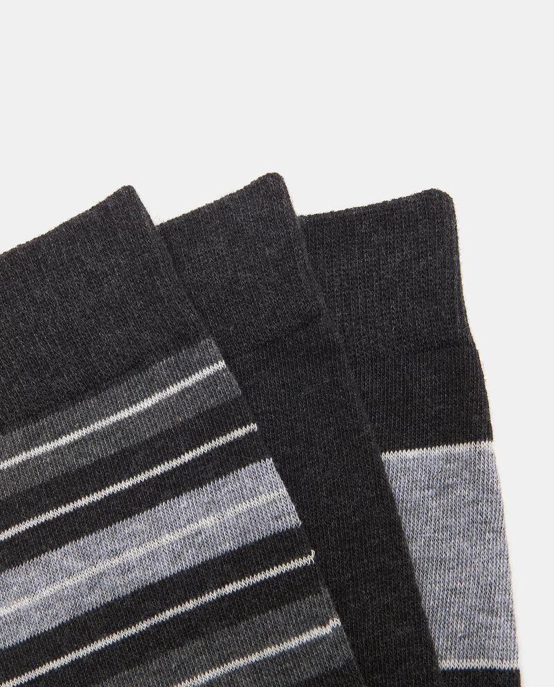 Set tre paia di calze corte stretch