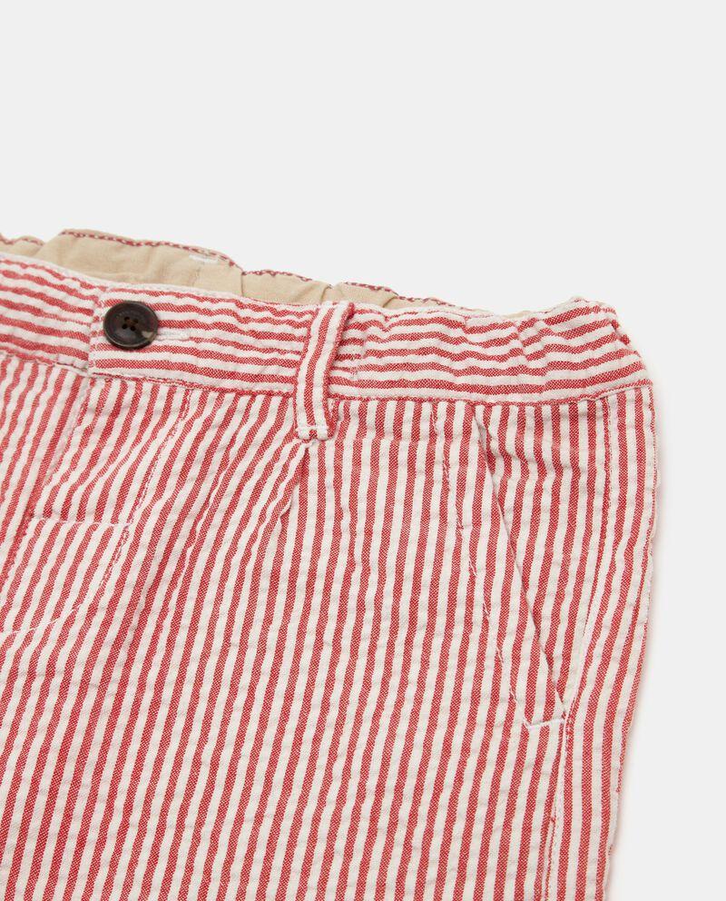 Shorts in seersucker rigato neonato