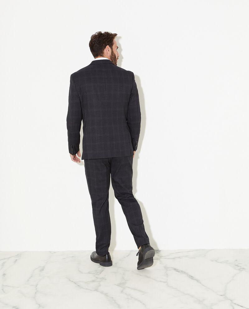 Abito con giacca e pantalone con motivo principe di galles uomo