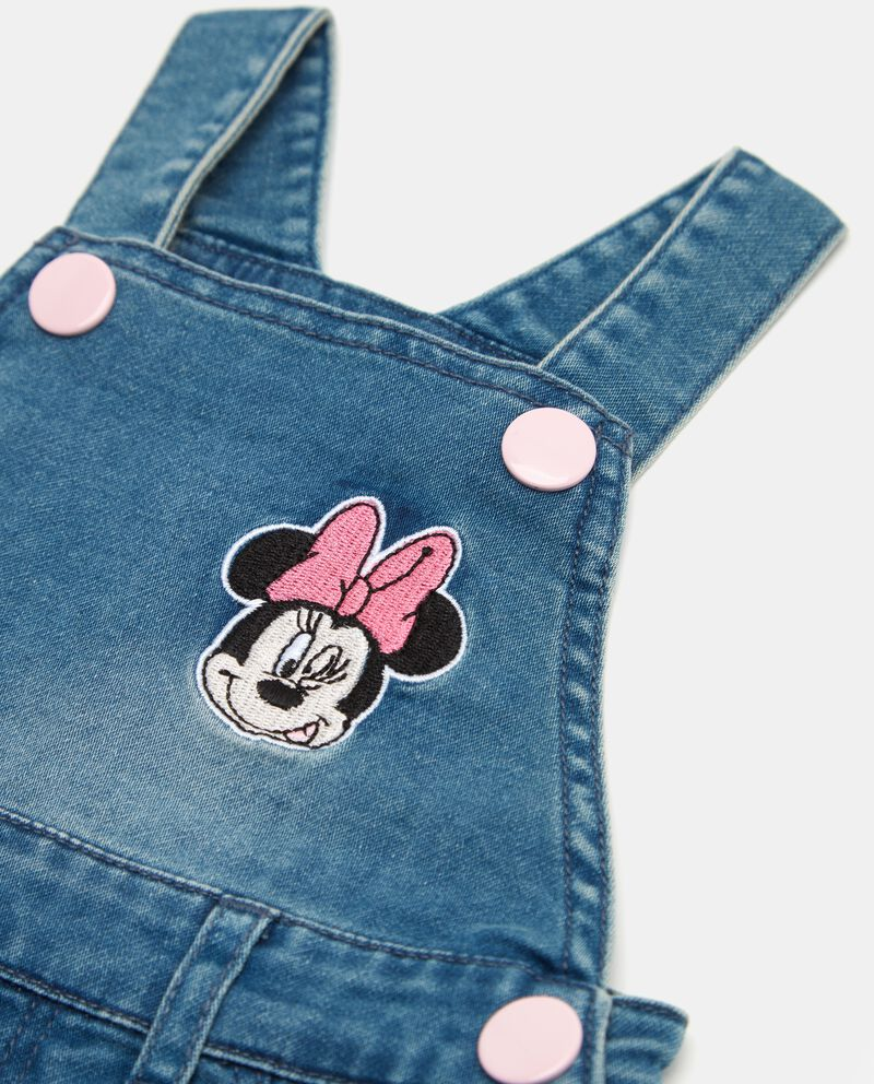 Salopette in jeans Minnie neonata