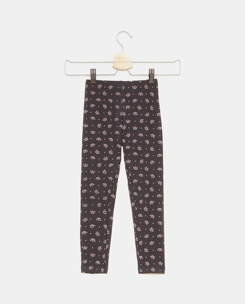 Leggings fantasia corone bambina