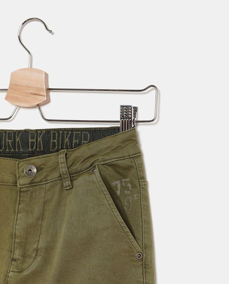 Pantaloni tinta unita cargo ragazzo