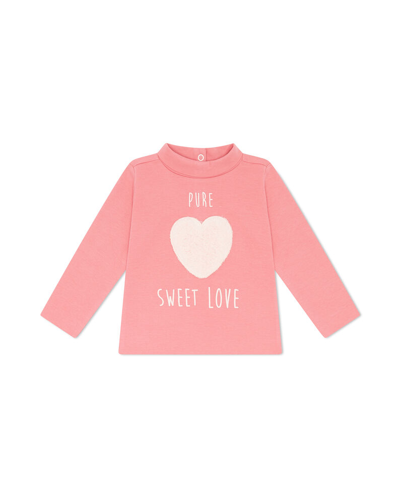 T-shirt puro cotone patch cuore