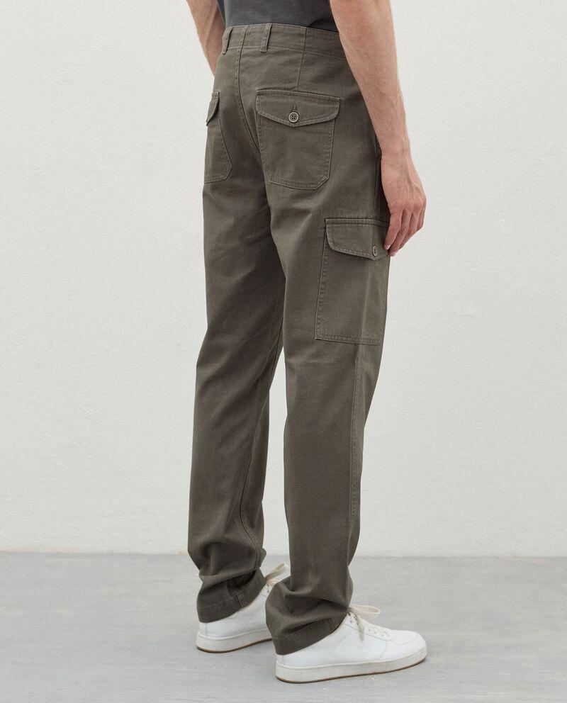 Pantaloni cargo di puro cotone uomo single tile 1