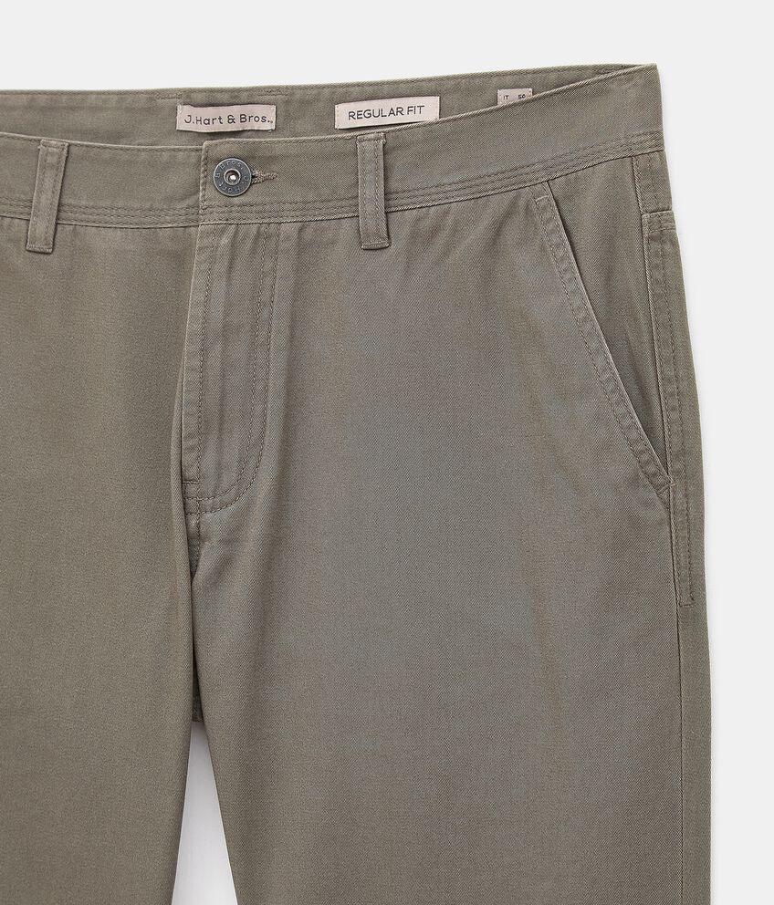 Pantaloni chino di puro cotone uomo double 2