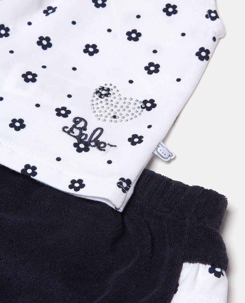 Set con maglia puro cotone e bermuda