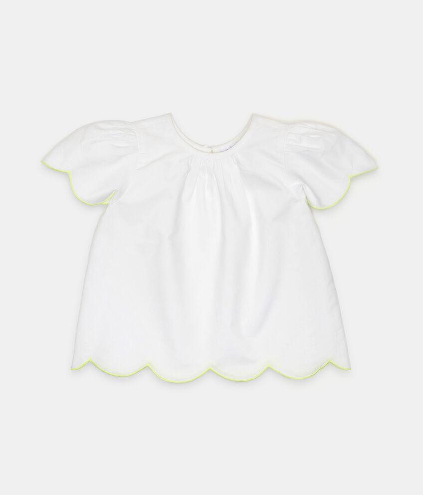 Camicia in cotone con profili a contrasto neonata double 1